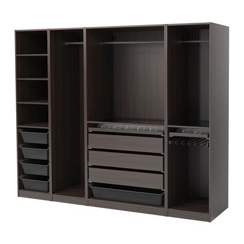 pax armoire penderie brun noir 250 x 58 x 201 cm ikea. Black Bedroom Furniture Sets. Home Design Ideas
