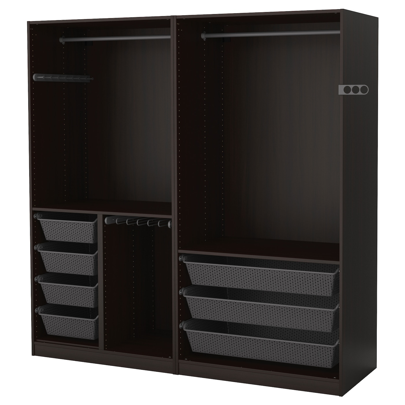 pax armoire penderie brun noir 200 x 58 x 201 cm ikea. Black Bedroom Furniture Sets. Home Design Ideas