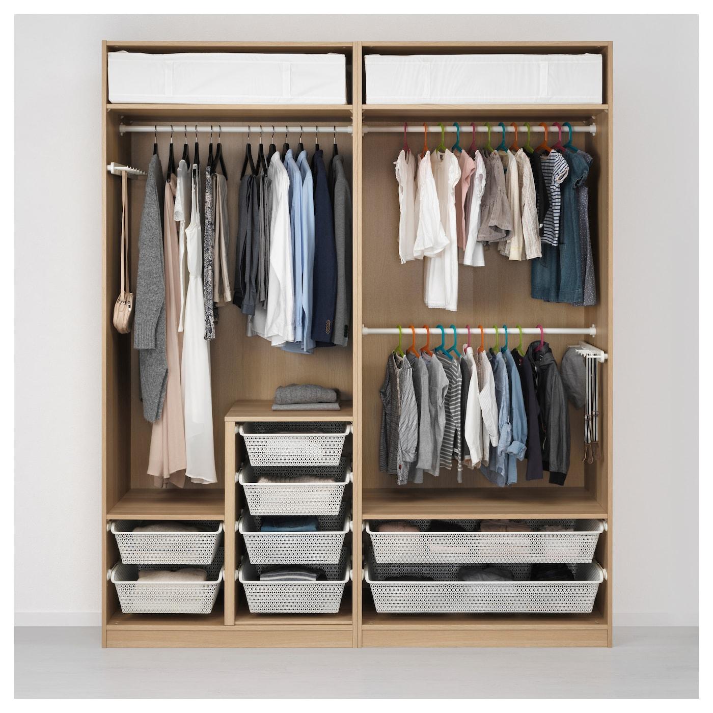pax armoire penderie effet ch ne blanchi auli ilseng. Black Bedroom Furniture Sets. Home Design Ideas