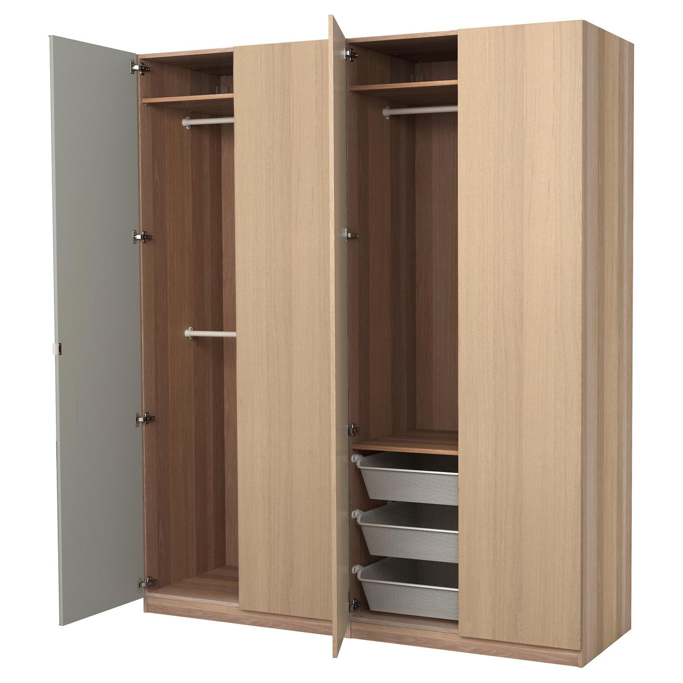 pax armoire penderie effet ch ne blanchi nexus vikedal. Black Bedroom Furniture Sets. Home Design Ideas