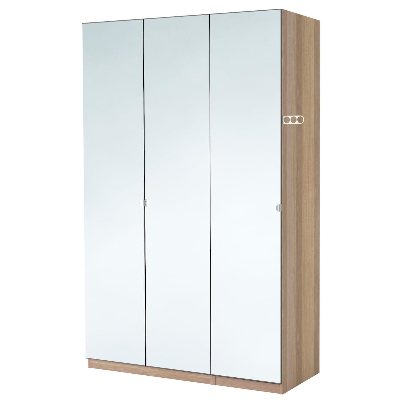 pax armoire penderie effet ch ne blanchi vikedal miroir 150 x 60 x 236 cm ikea. Black Bedroom Furniture Sets. Home Design Ideas