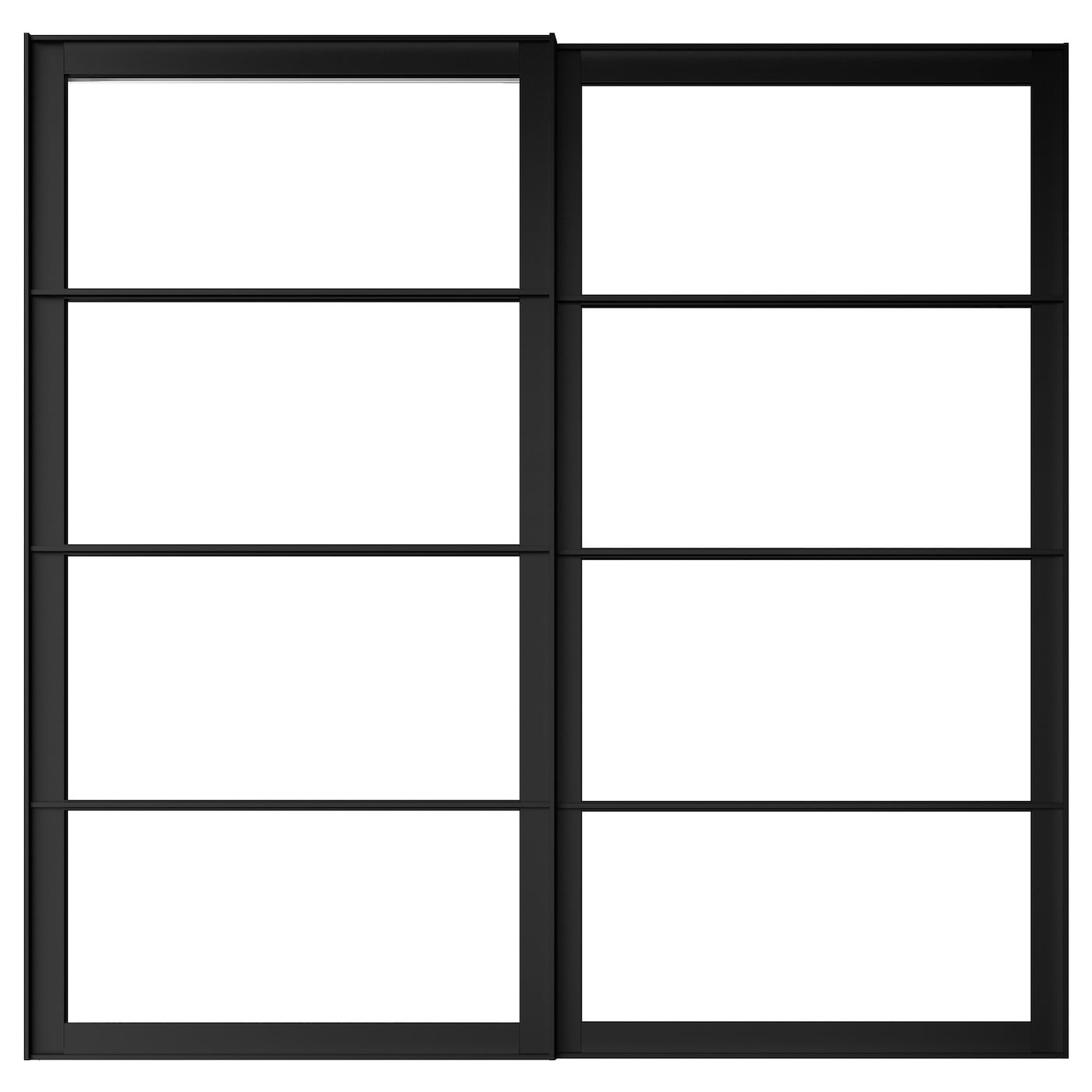 pax cadre porte coulissante 2pces noir 150x201 cm ikea. Black Bedroom Furniture Sets. Home Design Ideas