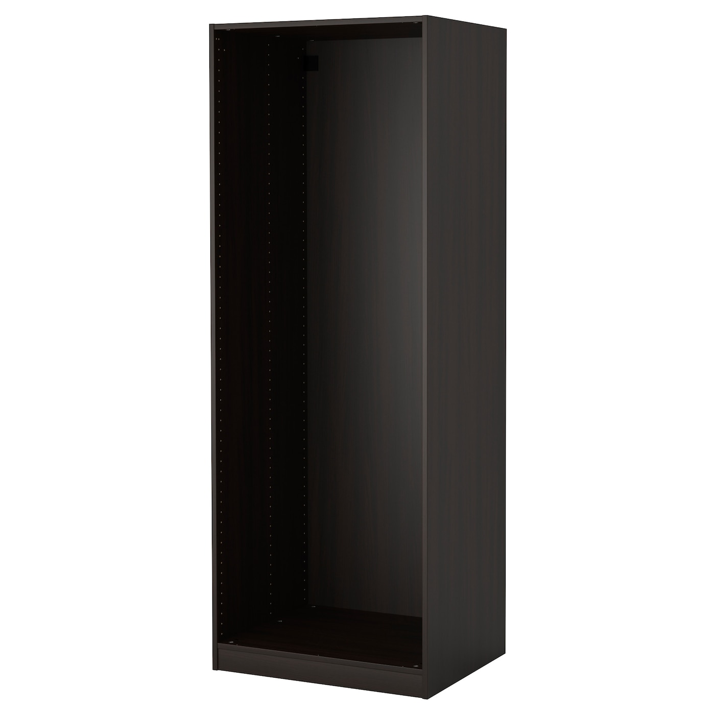 pax caisson d 39 armoire brun noir 75 x 58 x 201 cm ikea. Black Bedroom Furniture Sets. Home Design Ideas