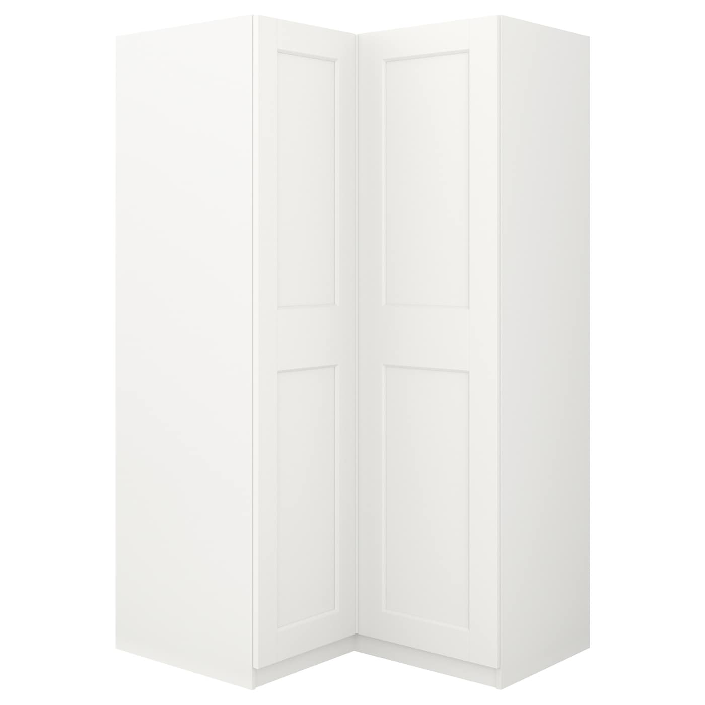 pax penderie d 39 angle blanc grimo blanc 111 111 x 201 cm ikea. Black Bedroom Furniture Sets. Home Design Ideas