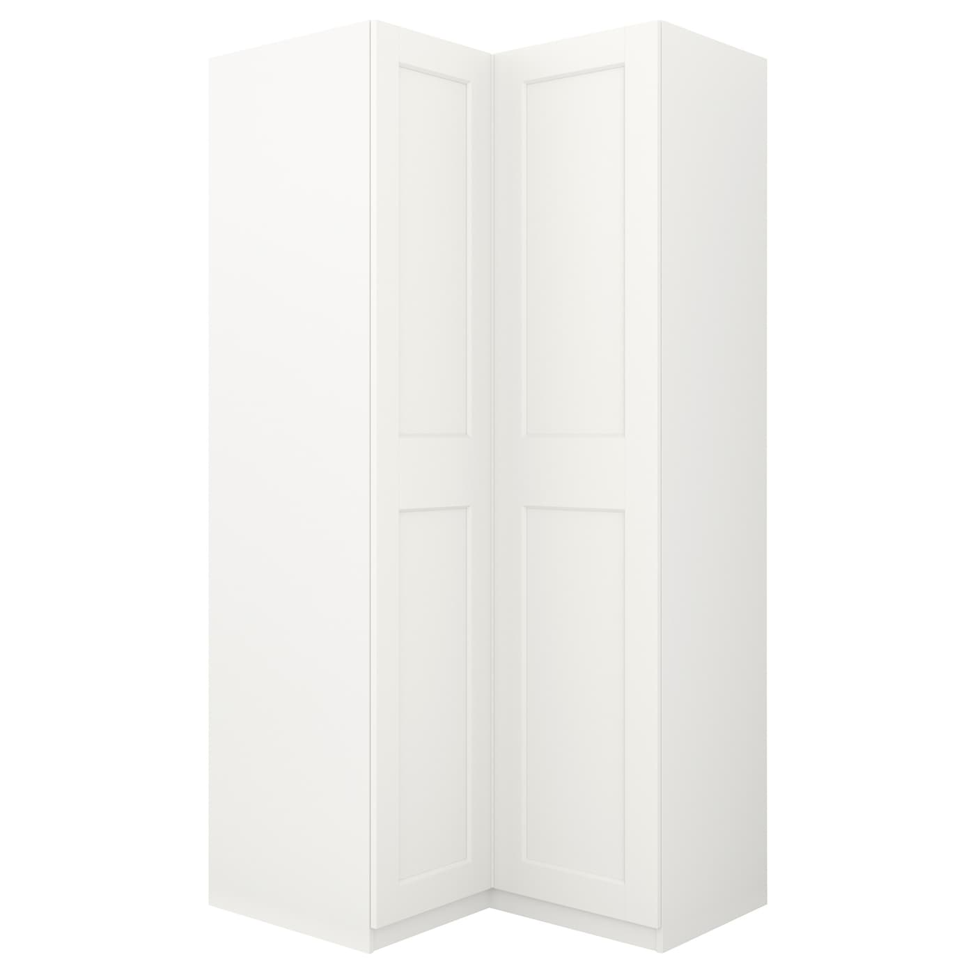 pax penderie d 39 angle blanc grimo blanc 111 111 x 236 cm ikea. Black Bedroom Furniture Sets. Home Design Ideas