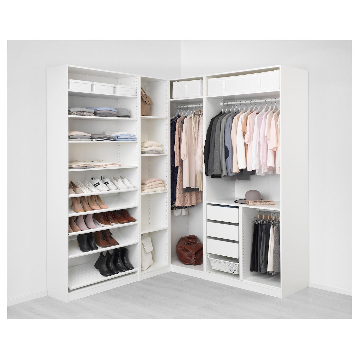 pax penderie d 39 angle blanc tyssedal tyssedal verre 210 188 x 236 cm ikea. Black Bedroom Furniture Sets. Home Design Ideas