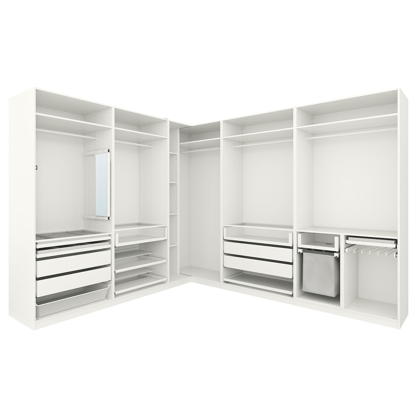 pax penderie d 39 angle blanc 310 310 x 236 cm ikea. Black Bedroom Furniture Sets. Home Design Ideas