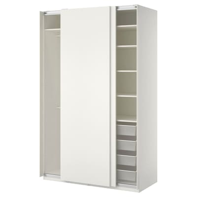 PAX armoire-penderie blanc/Hasvik blanc 150 cm 66 cm 236.4 cm