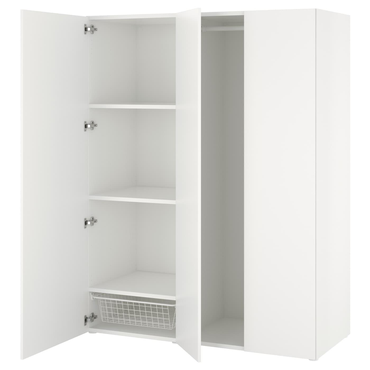 Platsa armoire penderie blanc fonnes blanc 140 x 57 x 181 for Outil de planification de placard ikea