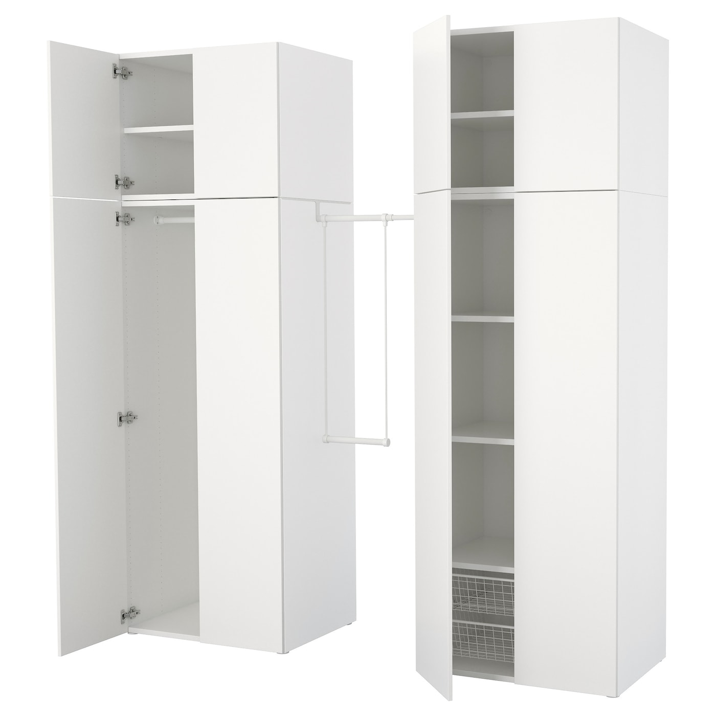 platsa armoire penderie blanc fonnes blanc 195 220 x 57 x 241 cm ikea. Black Bedroom Furniture Sets. Home Design Ideas