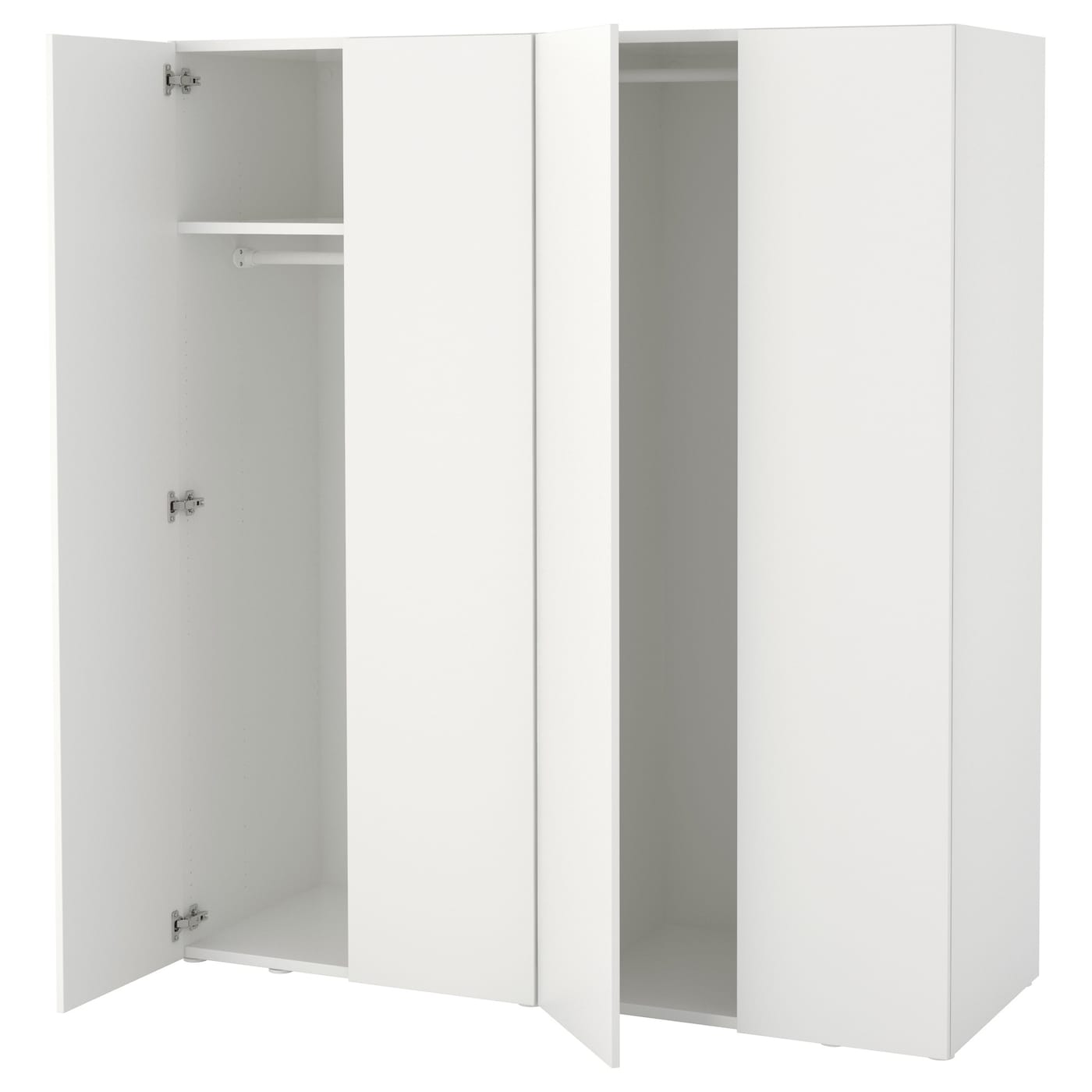 Platsa armoire penderie blanc fonnes blanc 160 x 57 x 181 for Outil de planification de placard ikea