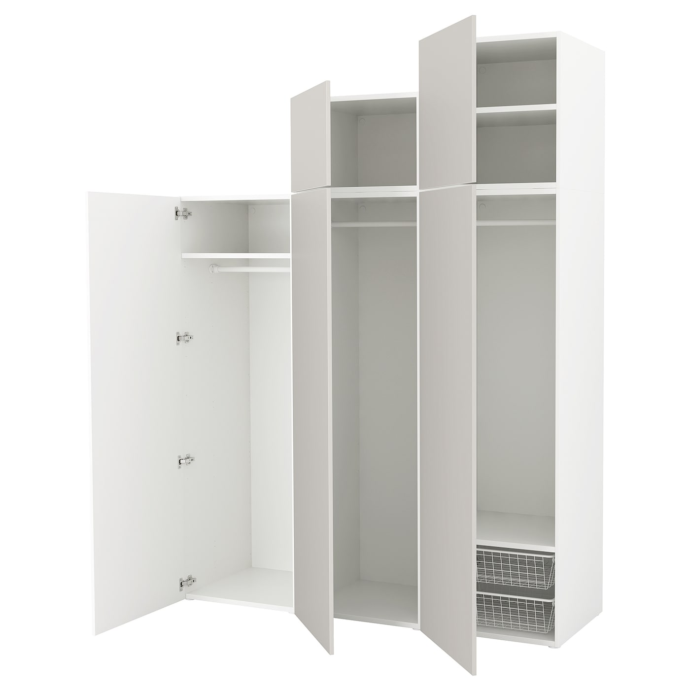 platsa armoire penderie blanc skatval gris clair 180 x 57 x 241 cm ikea. Black Bedroom Furniture Sets. Home Design Ideas