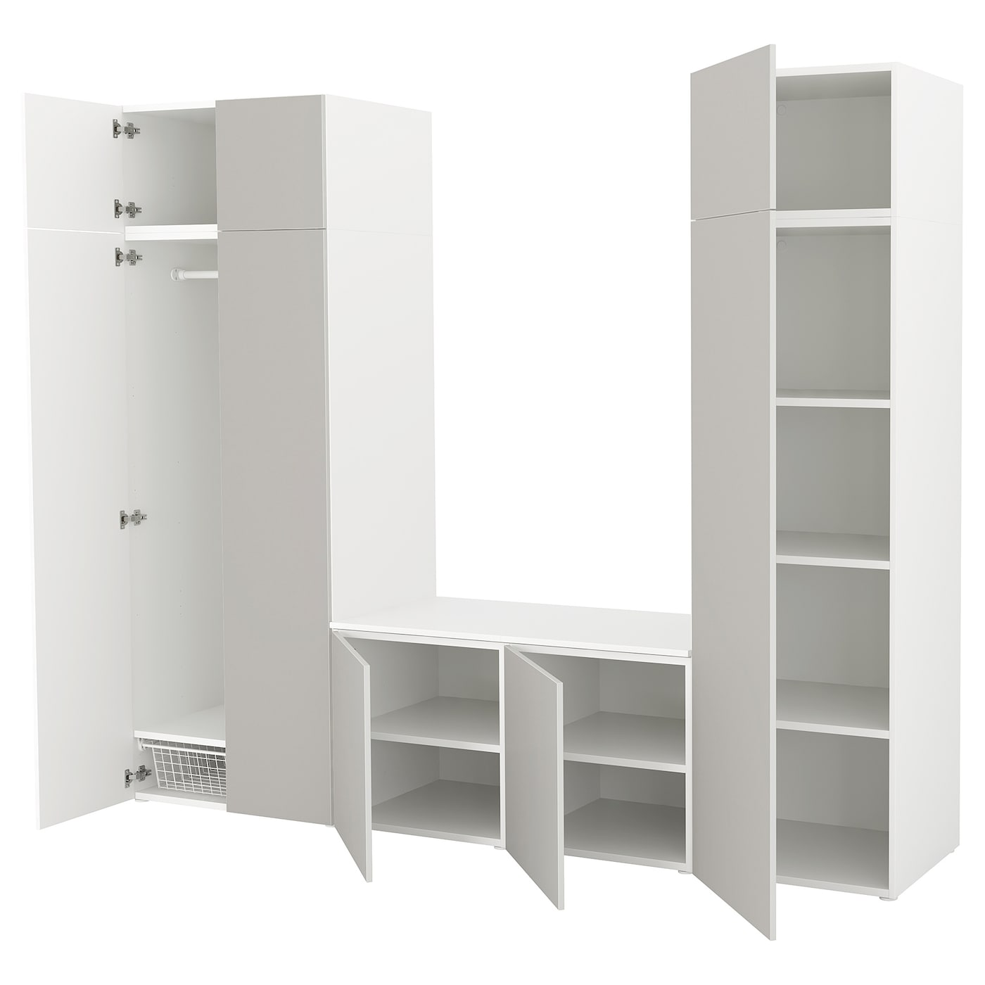 platsa armoire penderie blanc skatval gris clair 260 x 57 x 221 cm ikea. Black Bedroom Furniture Sets. Home Design Ideas