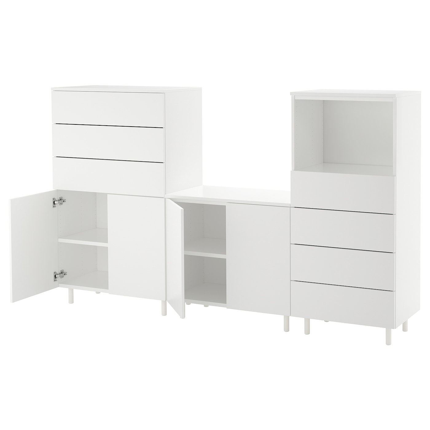 platsa combinaison de rangement blanc fonnes blanc 220 x 42 x 133 cm ikea. Black Bedroom Furniture Sets. Home Design Ideas