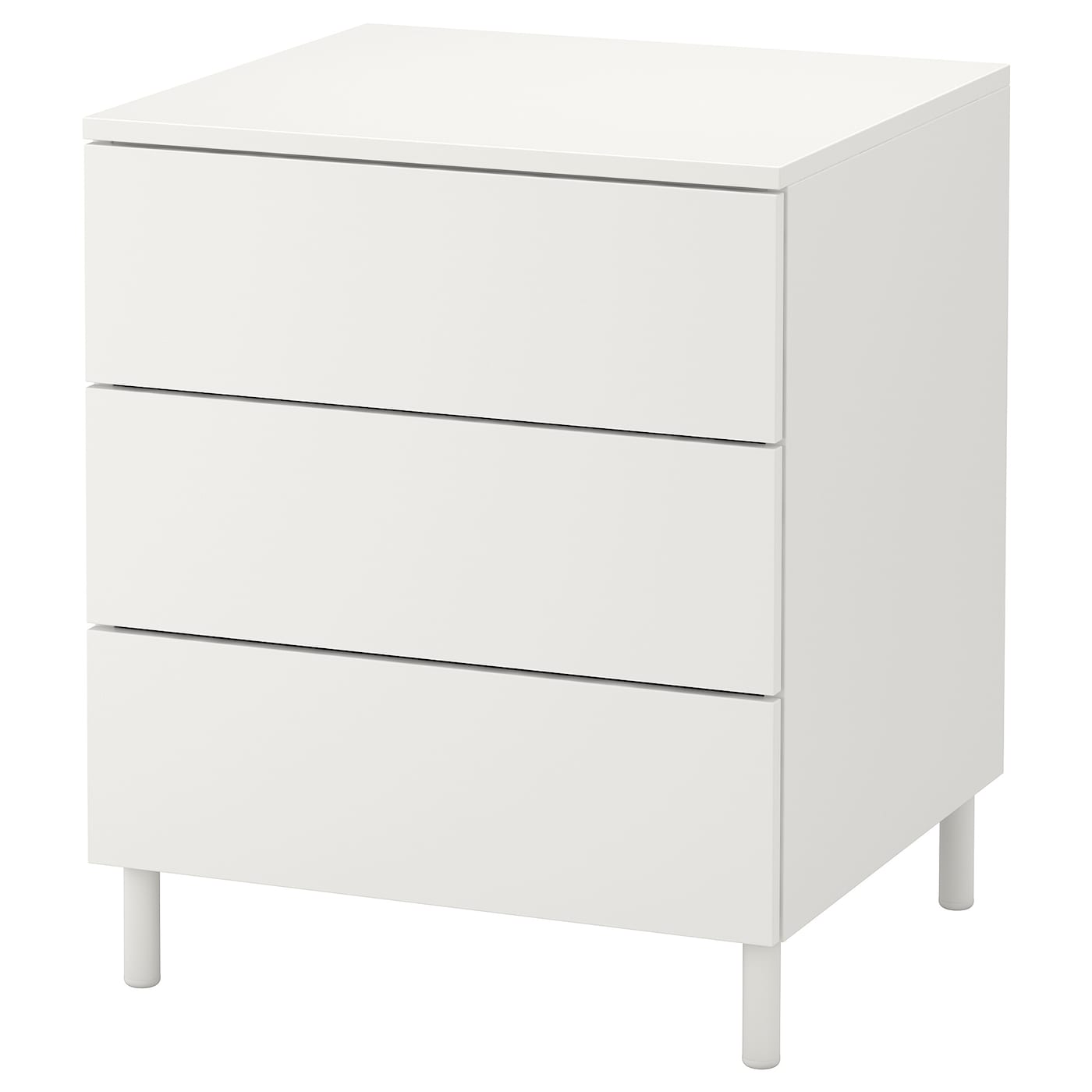 Platsa commode 3 tiroirs blanc fonnes blanc 60x55x73 cm ikea for Ikea blanc commode