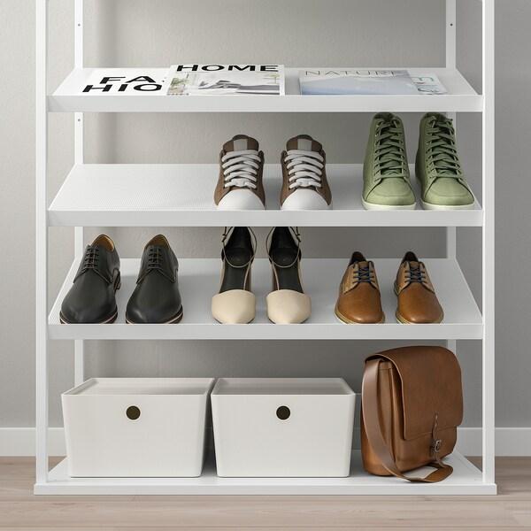 PLATSA Rangement ouvert pour chaussures, blanc, 80x40x120 cm