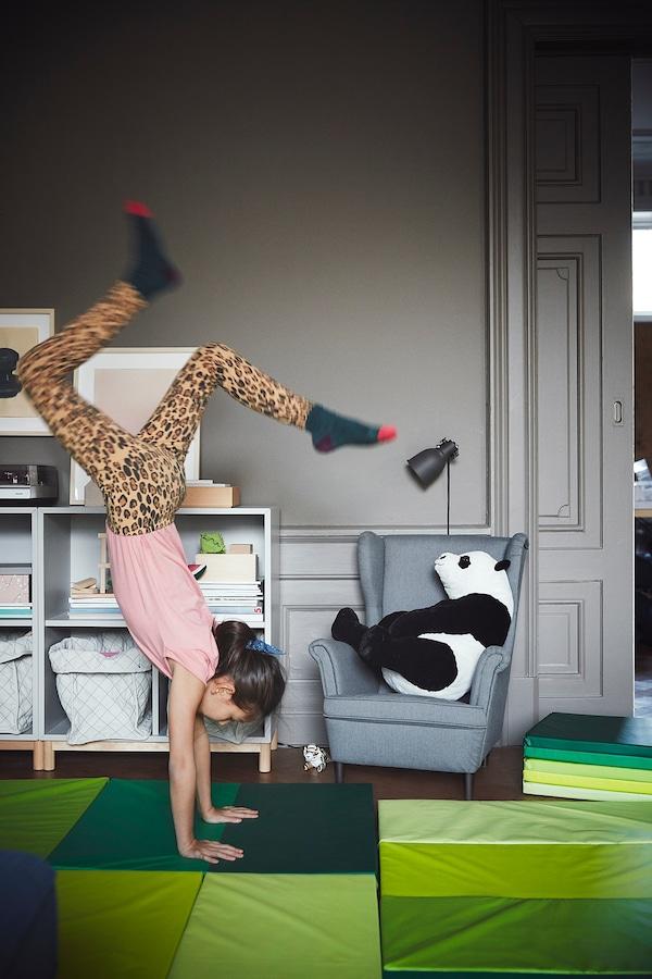 PLUFSIG tapis de gymnastique pliant vert 185 cm 78 cm 3.2 cm