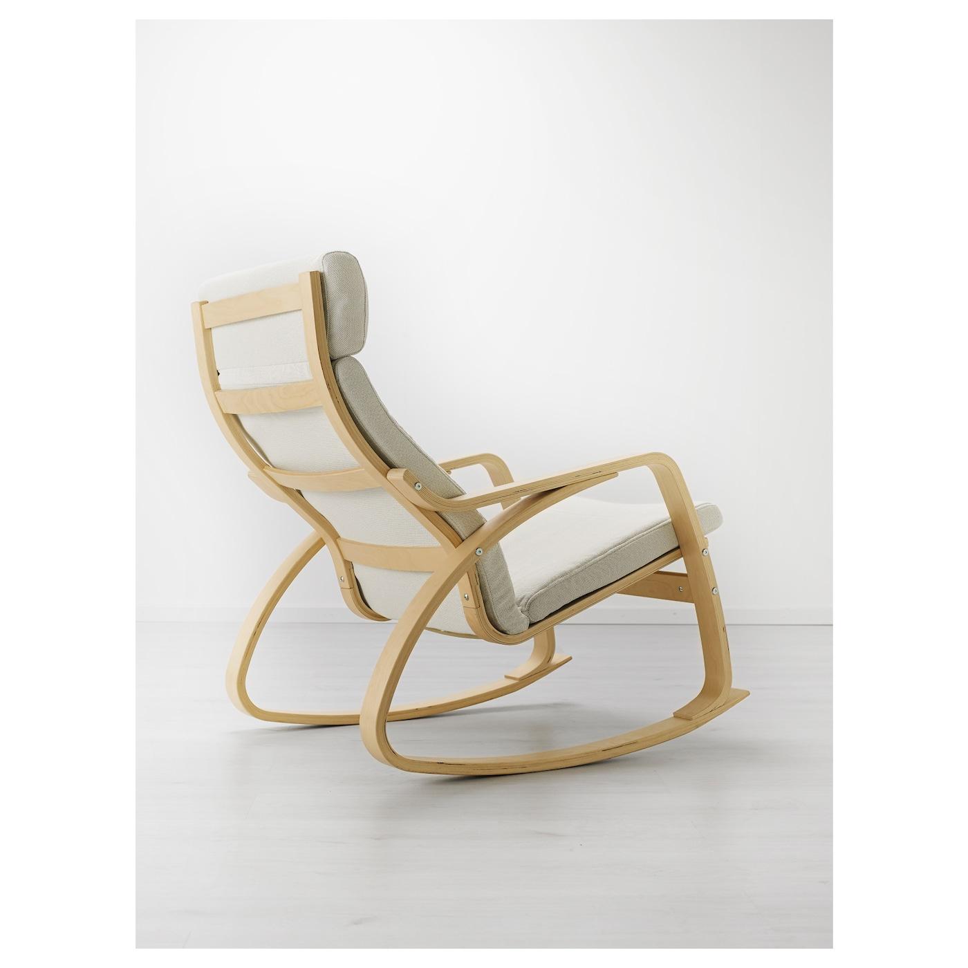 po ng fauteuil bascule plaqu bouleau finnsta blanc ikea. Black Bedroom Furniture Sets. Home Design Ideas