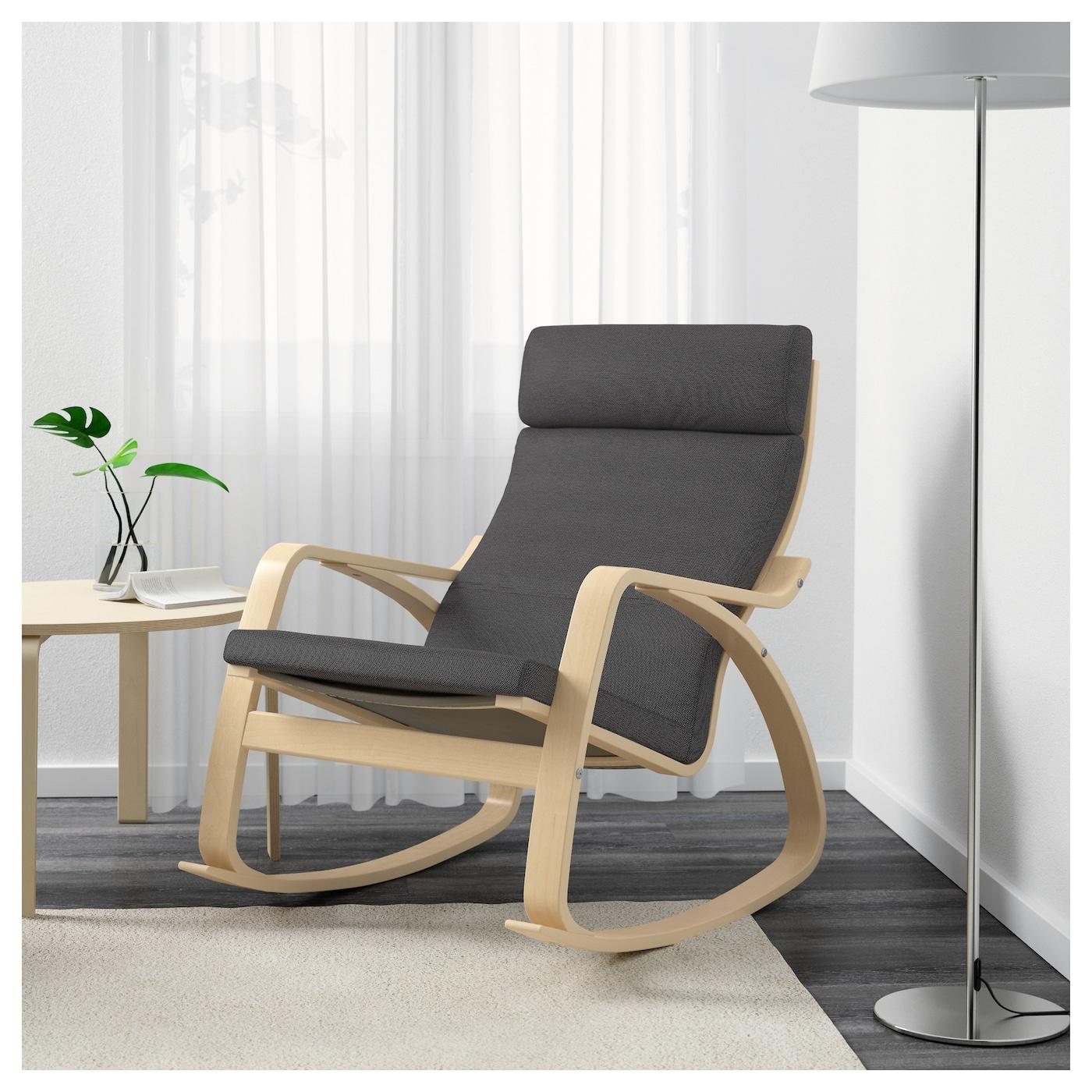 po ng fauteuil bascule plaqu bouleau finnsta gris ikea. Black Bedroom Furniture Sets. Home Design Ideas