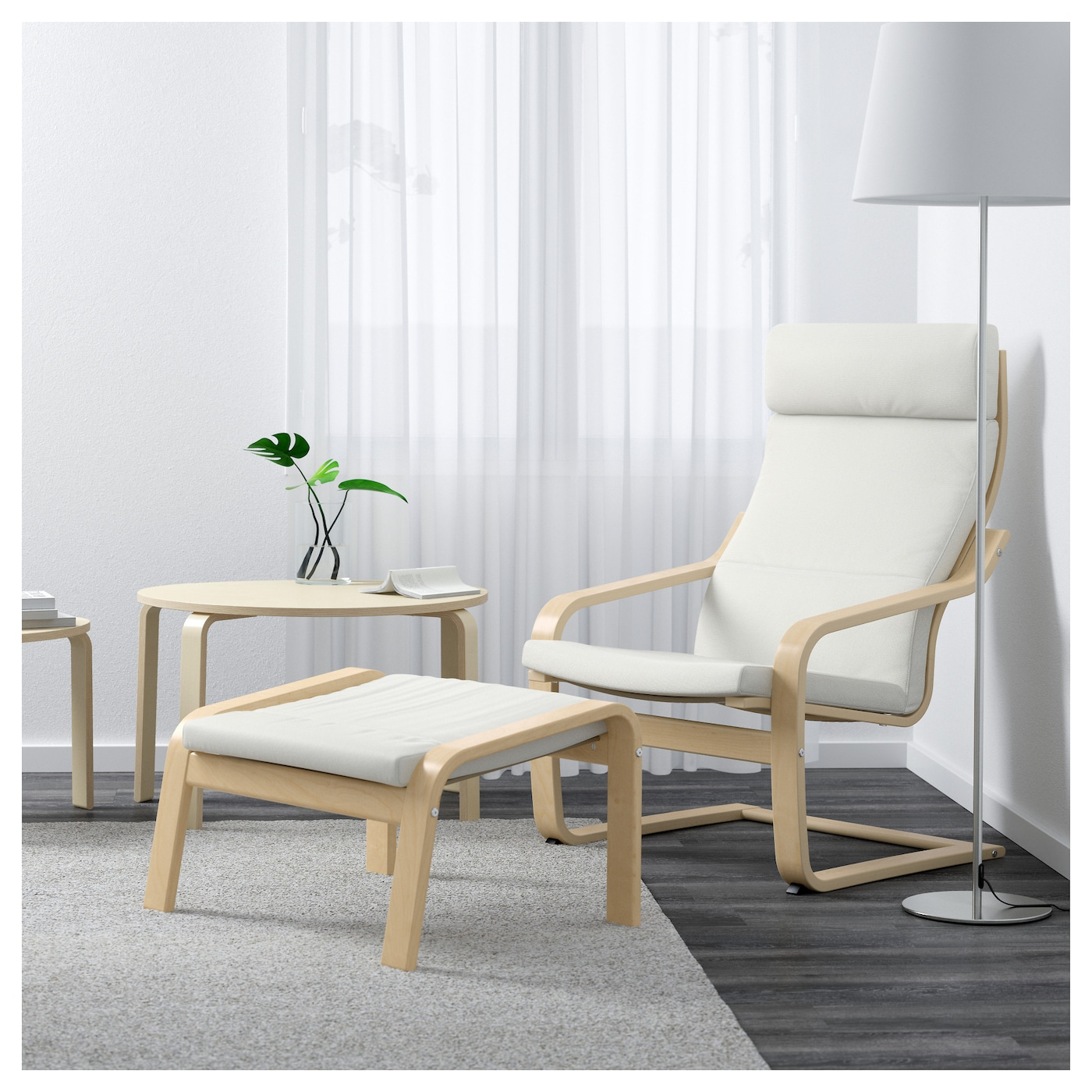 po ng fauteuil plaqu bouleau finnsta blanc ikea. Black Bedroom Furniture Sets. Home Design Ideas