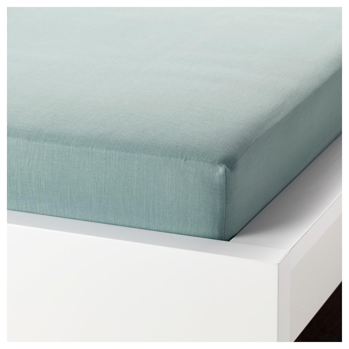 puderviva drap housse vert 180 x 200 cm ikea. Black Bedroom Furniture Sets. Home Design Ideas