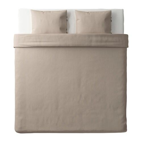 puderviva housse de couette et 2 taies naturel 240x220 50x60 cm ikea. Black Bedroom Furniture Sets. Home Design Ideas