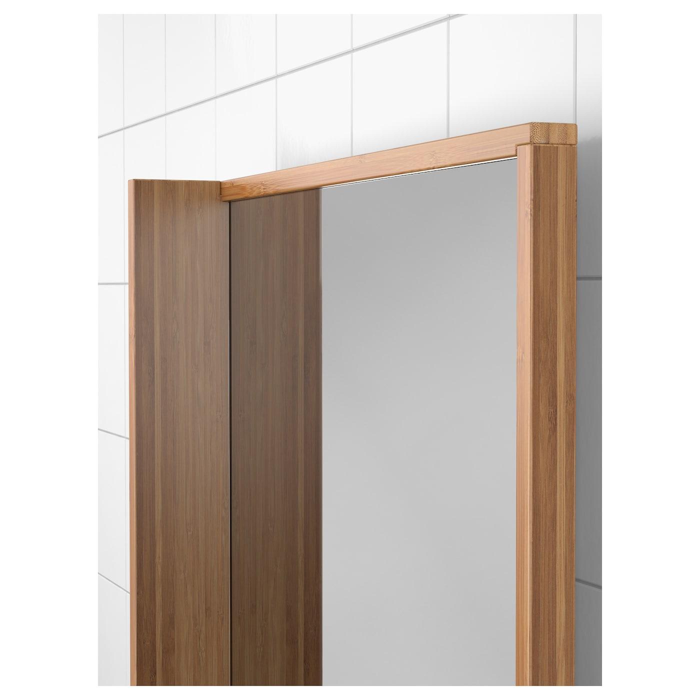 R grund miroir bambou 53x50 cm ikea for Miroir bambou