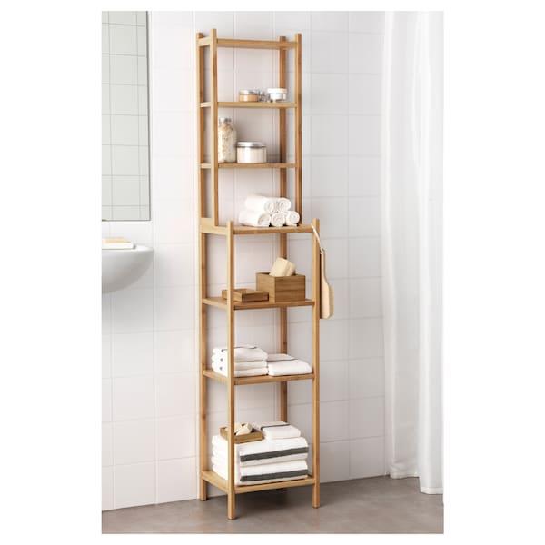 RÅGRUND Étagère, bambou, 33 cm
