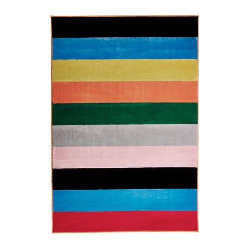 Randerup tapis poils ras ikea - Tapis multicolore ikea ...