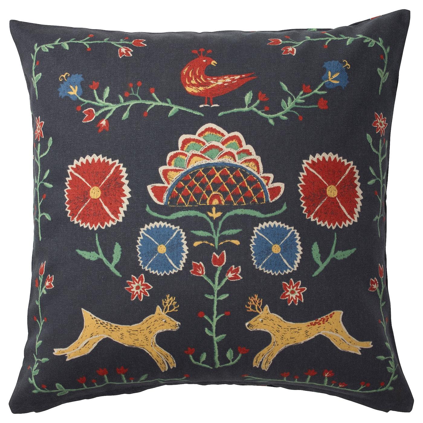 vigdis housse de coussin rouge orange 50x50 cm ikea. Black Bedroom Furniture Sets. Home Design Ideas