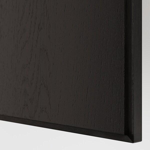 REPVÅG Porte, placage chêne teinté noir-brun, 50x229 cm