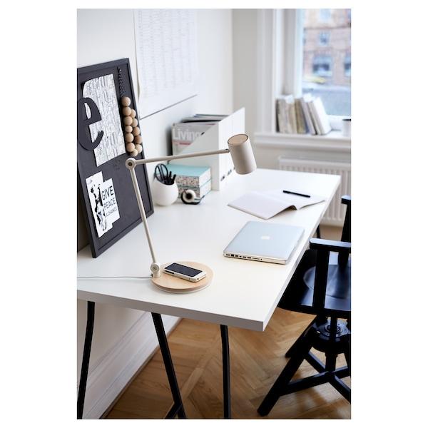 RIGGAD Lampe bureau LED stat chrgt s fil, blanc