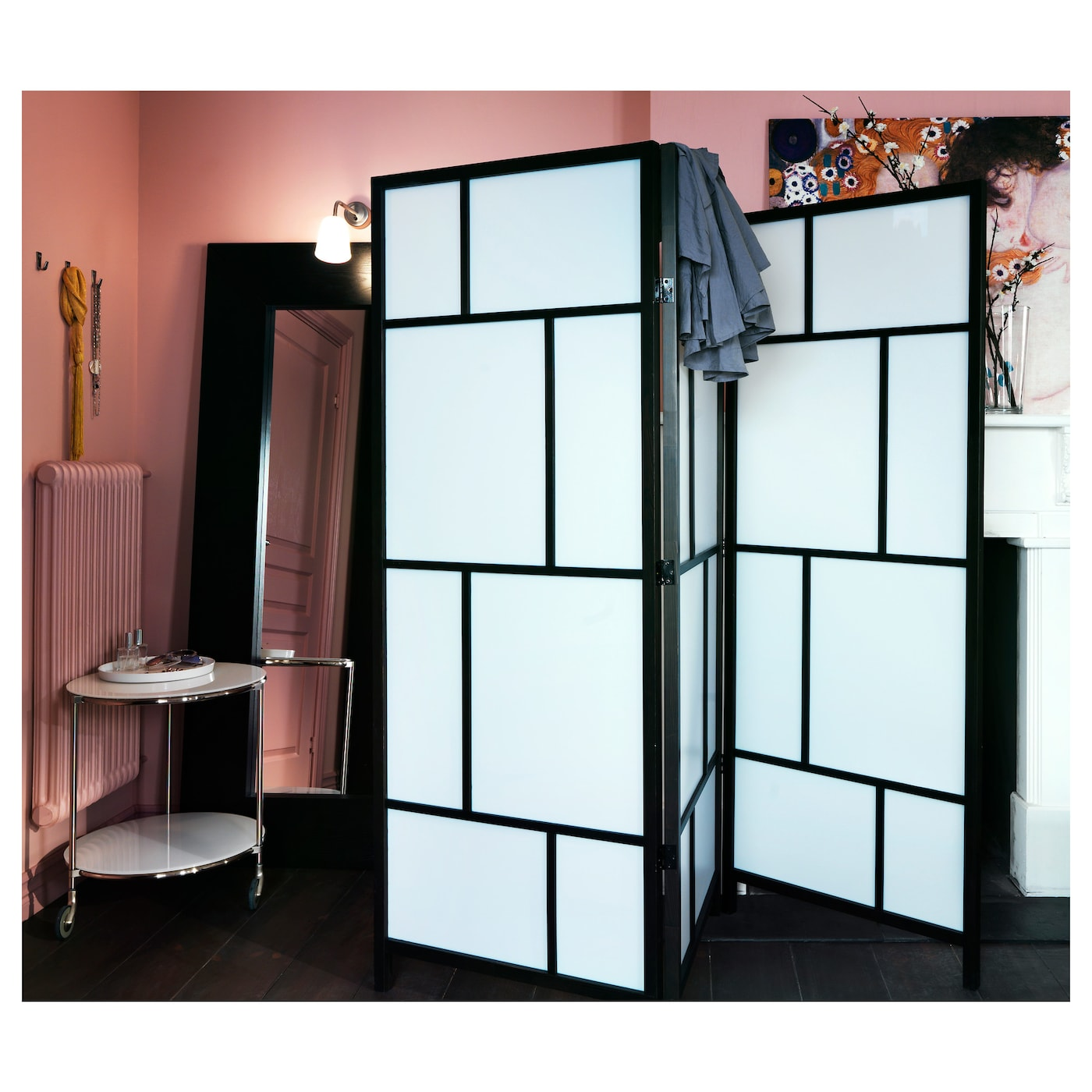 ris r paravent blanc noir 216x185 cm ikea. Black Bedroom Furniture Sets. Home Design Ideas