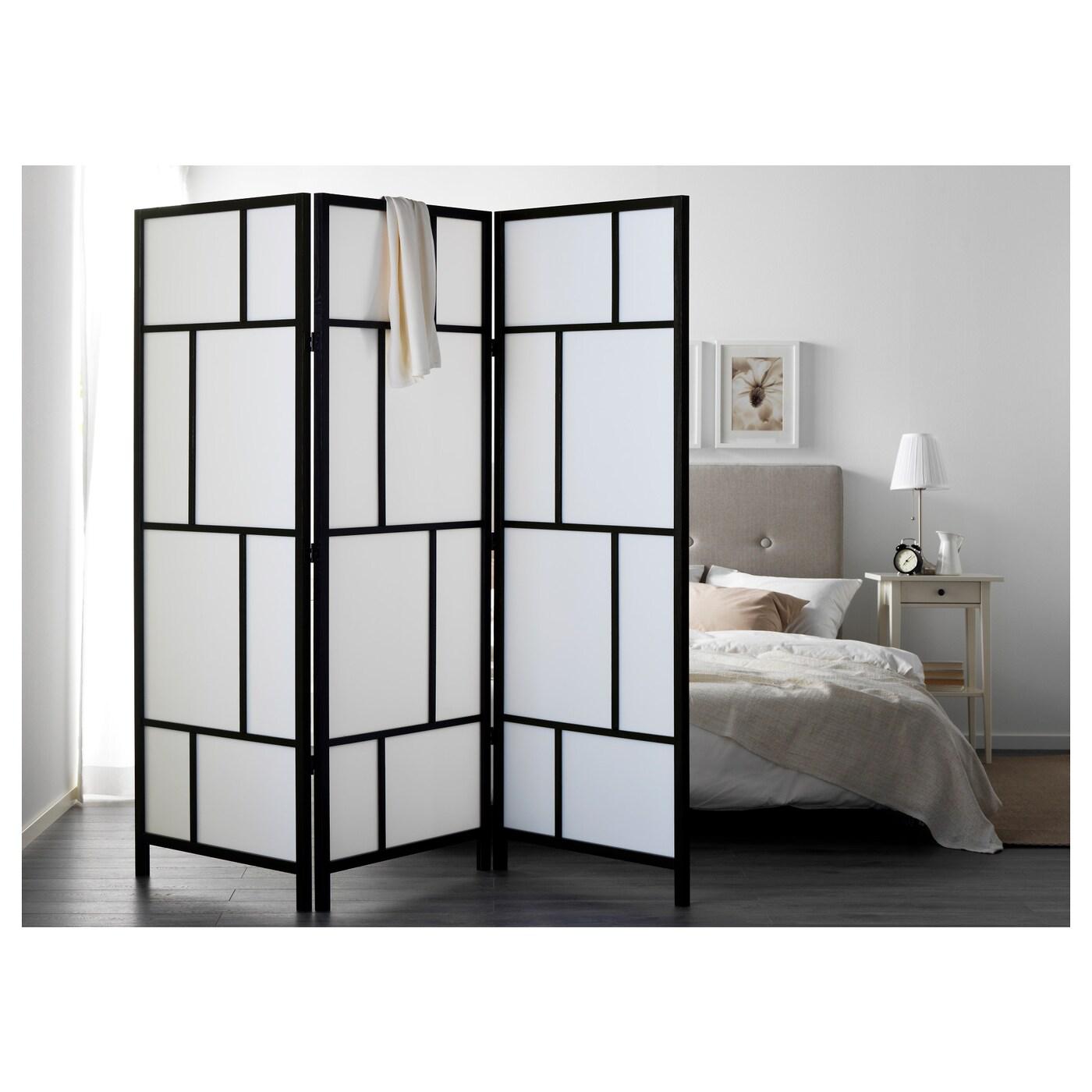 ris r paravent blanc noir 216x185 cm ikea. Black Bedroom Furniture Sets. Home Design Ideas