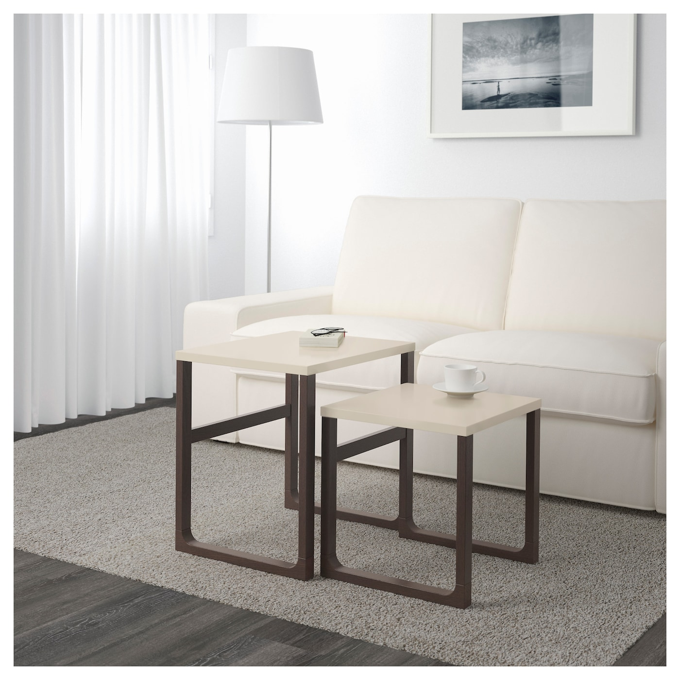 rissna tables gigognes lot de 2 beige ikea. Black Bedroom Furniture Sets. Home Design Ideas