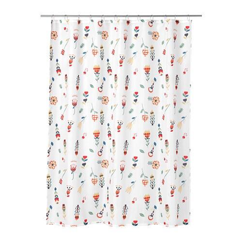ROSENFIBBLA Rideau de douche Blanc/motif floral 180 x 200 cm - IKEA