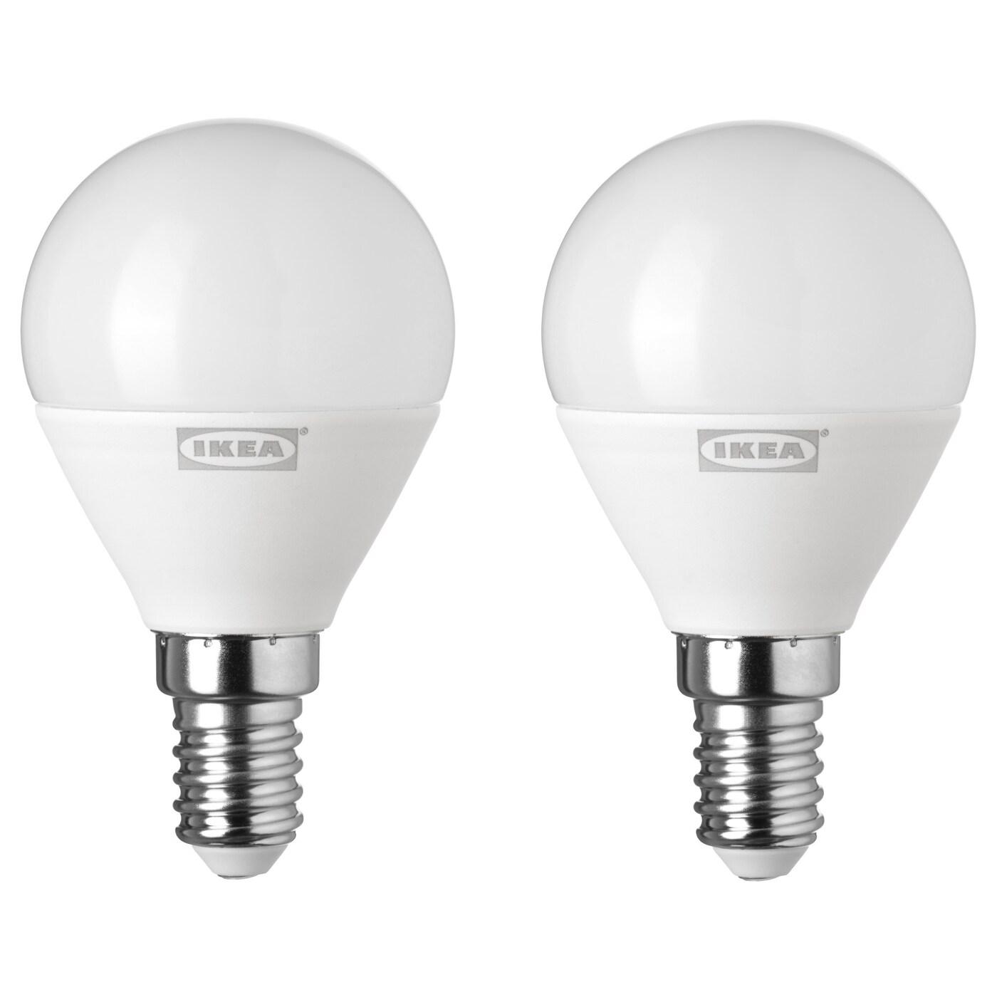 ryet ampoule led e14 400 lumen globe opalin ikea. Black Bedroom Furniture Sets. Home Design Ideas