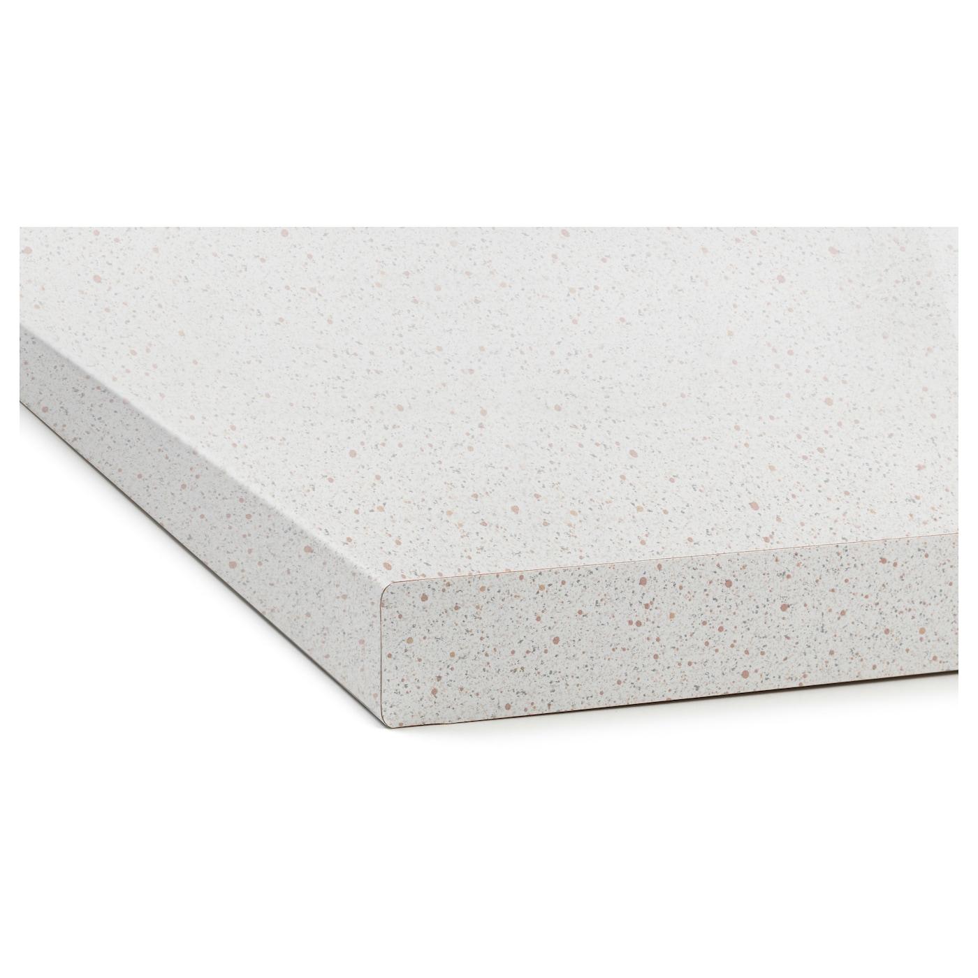 S ljan plan de travail blanc motif pierre 186x3 8 cm ikea - Plan de travail marbre ikea ...