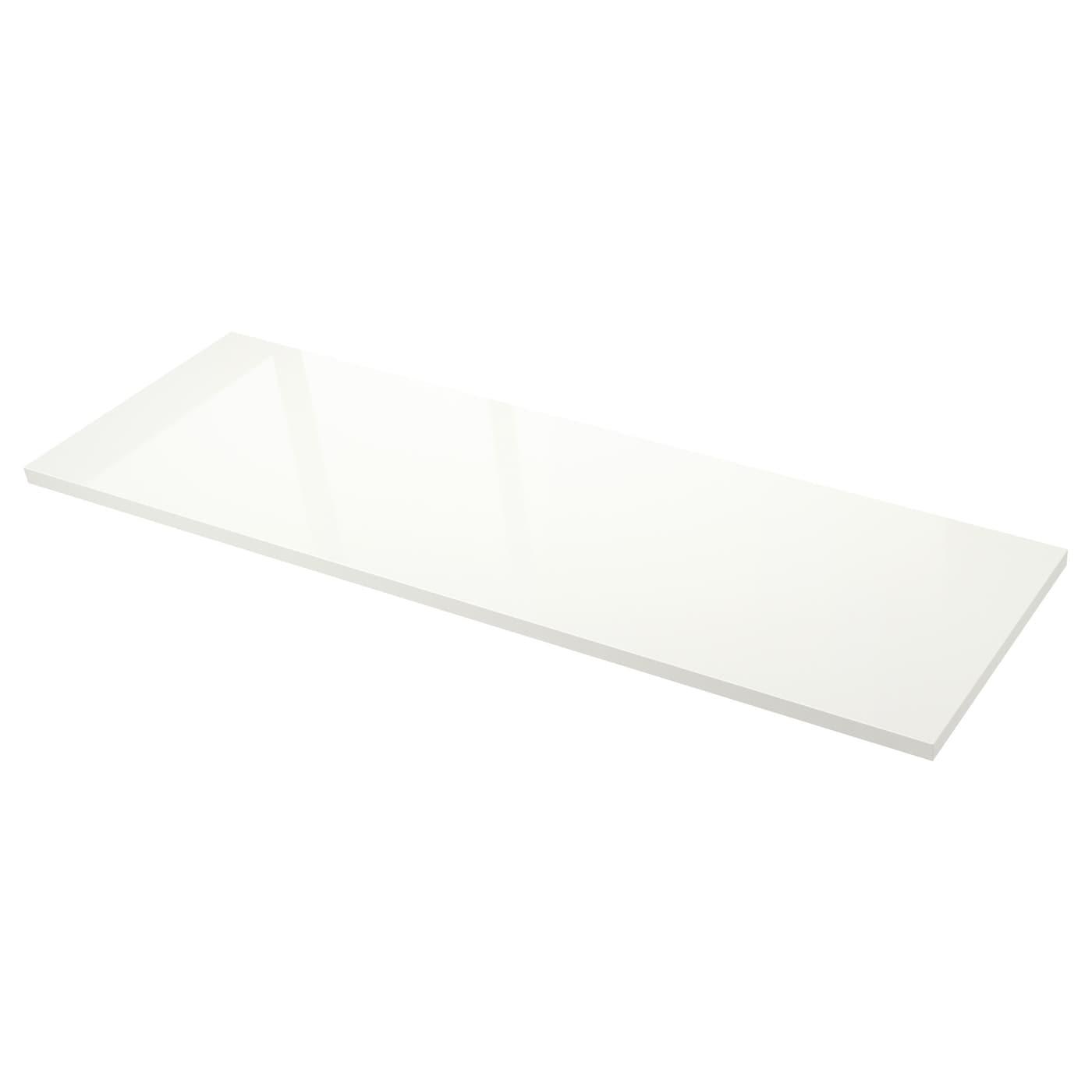 s ljan plan de travail sur mesure blanc brillant stratifi 63 6 125x3 8 cm ikea. Black Bedroom Furniture Sets. Home Design Ideas