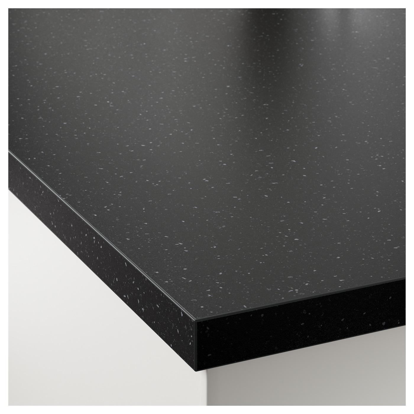 s ljan plan de travail sur mesure noir motif min ral. Black Bedroom Furniture Sets. Home Design Ideas