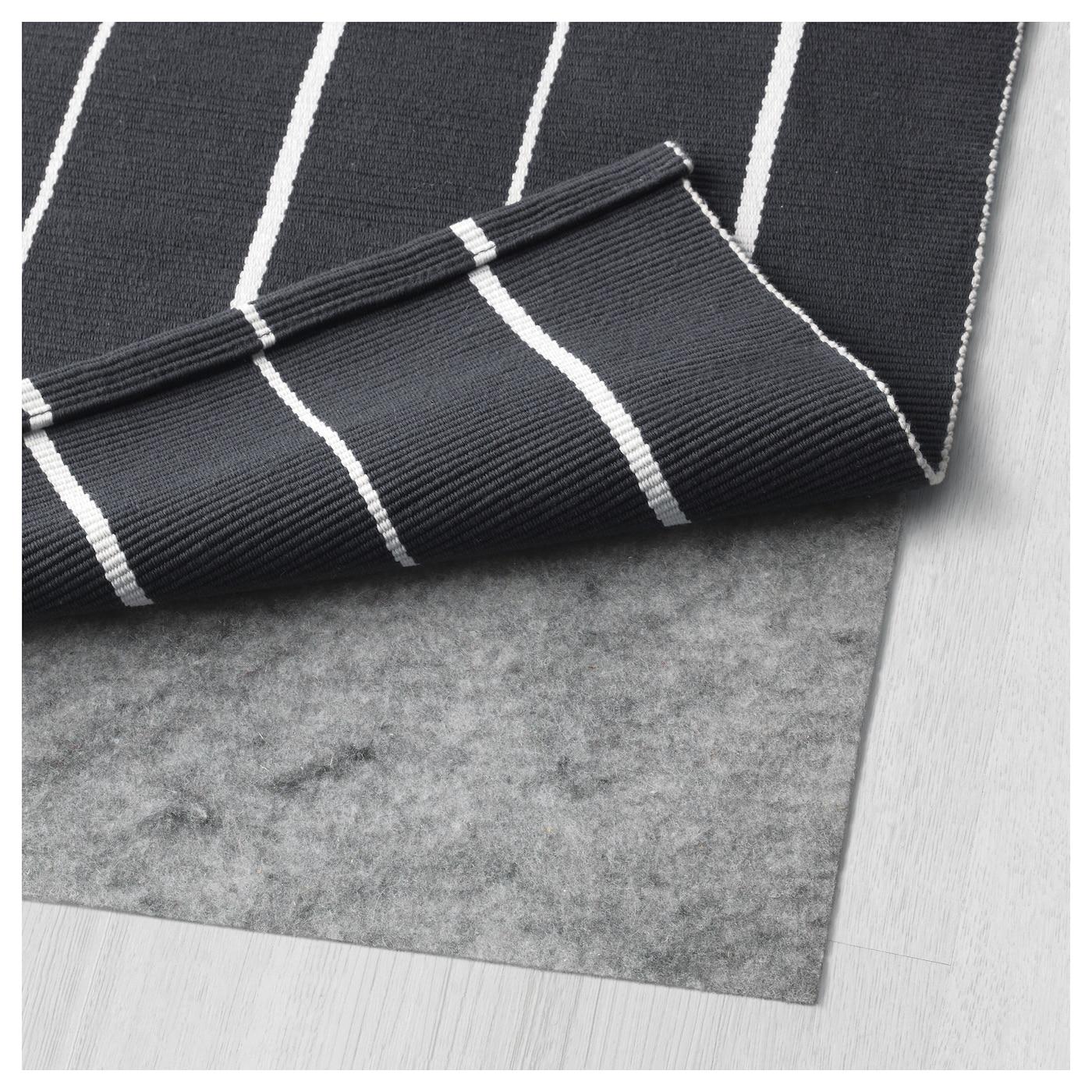 S ften tapis tiss plat noir blanc 80x150 cm ikea - Tapis tisse a plat ...
