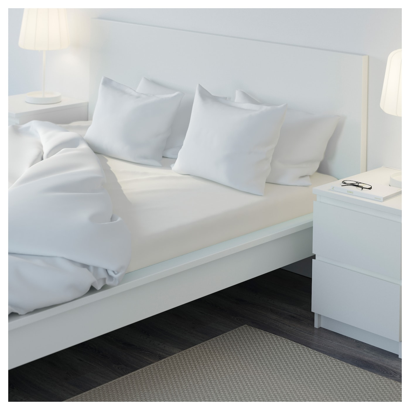s mntuta drap housse blanc 160x200 cm ikea. Black Bedroom Furniture Sets. Home Design Ideas