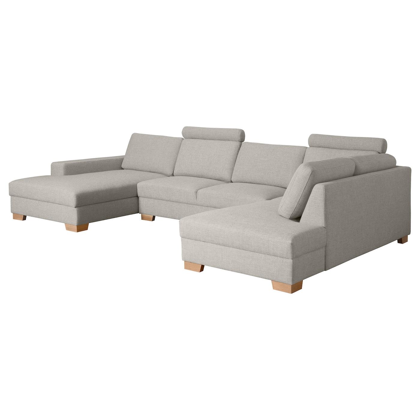 s rvallen canap d 39 angle 4 places avec m ridienne gauche ten gris clair ikea. Black Bedroom Furniture Sets. Home Design Ideas