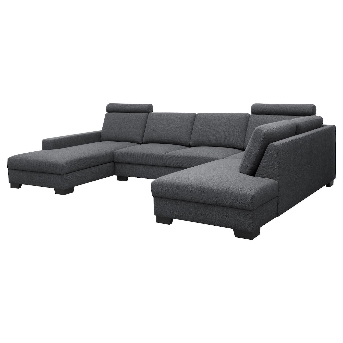 sÖrvallen canapé d'angle, 4 places avec méridienne, gauche/tenö gris