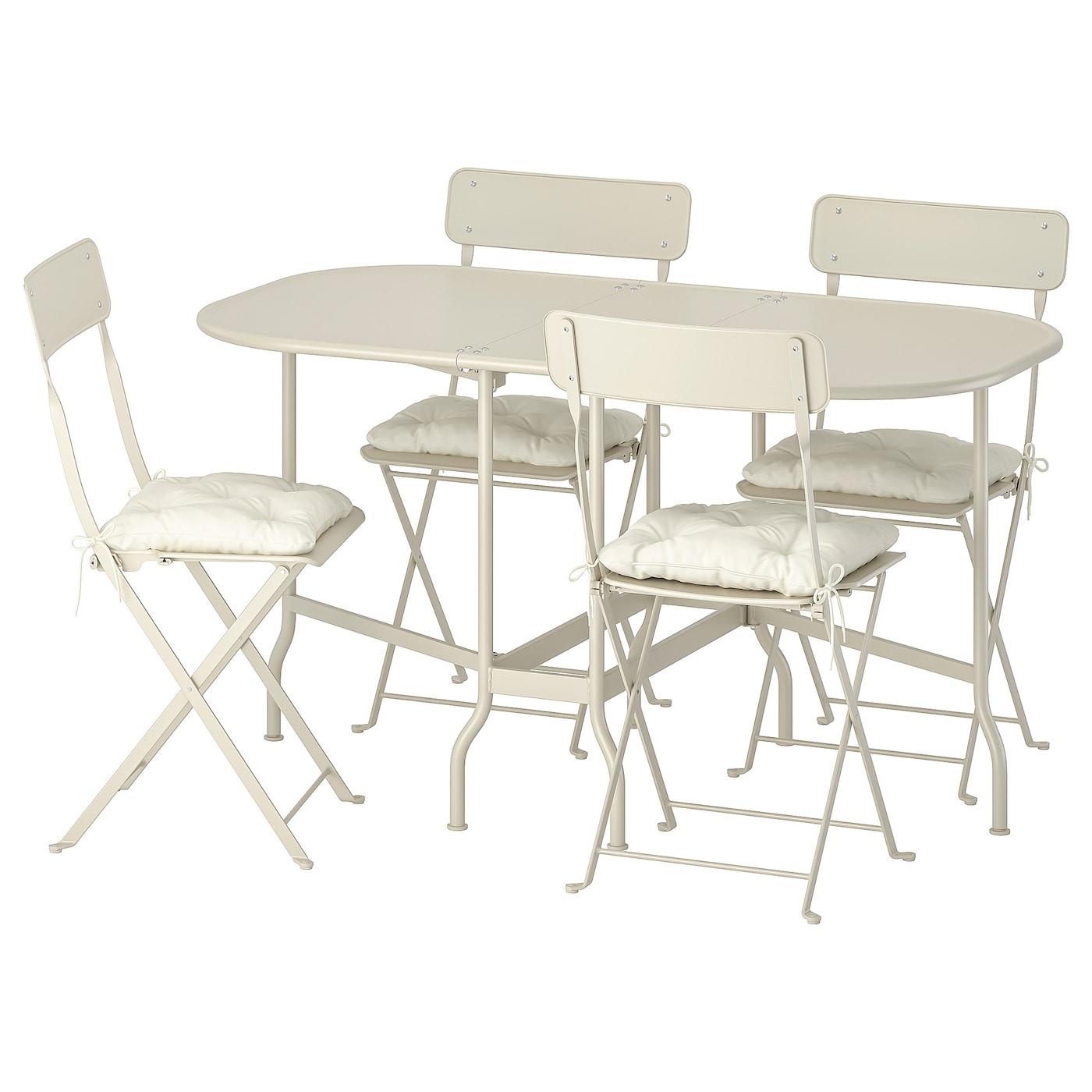 IKEA SALTHOLMEN Table 4 Chaises Pliantes Exterieur