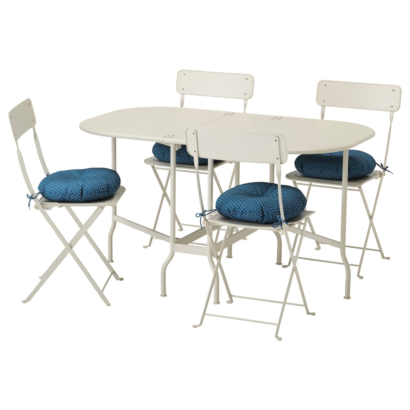 saltholmen table 4 chaises pliantes ext rieur beige ytter n bleu ikea. Black Bedroom Furniture Sets. Home Design Ideas