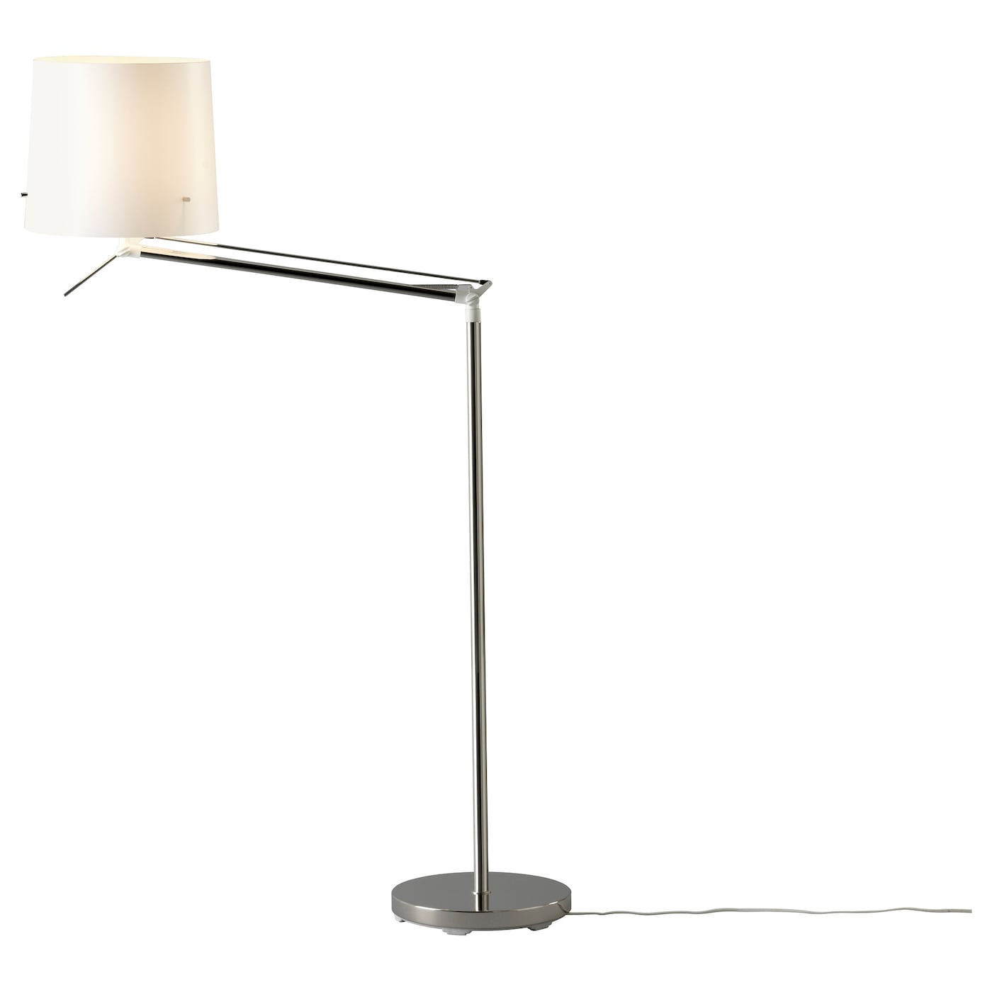 samtid lampadaire liseuse nickel blanc ikea. Black Bedroom Furniture Sets. Home Design Ideas