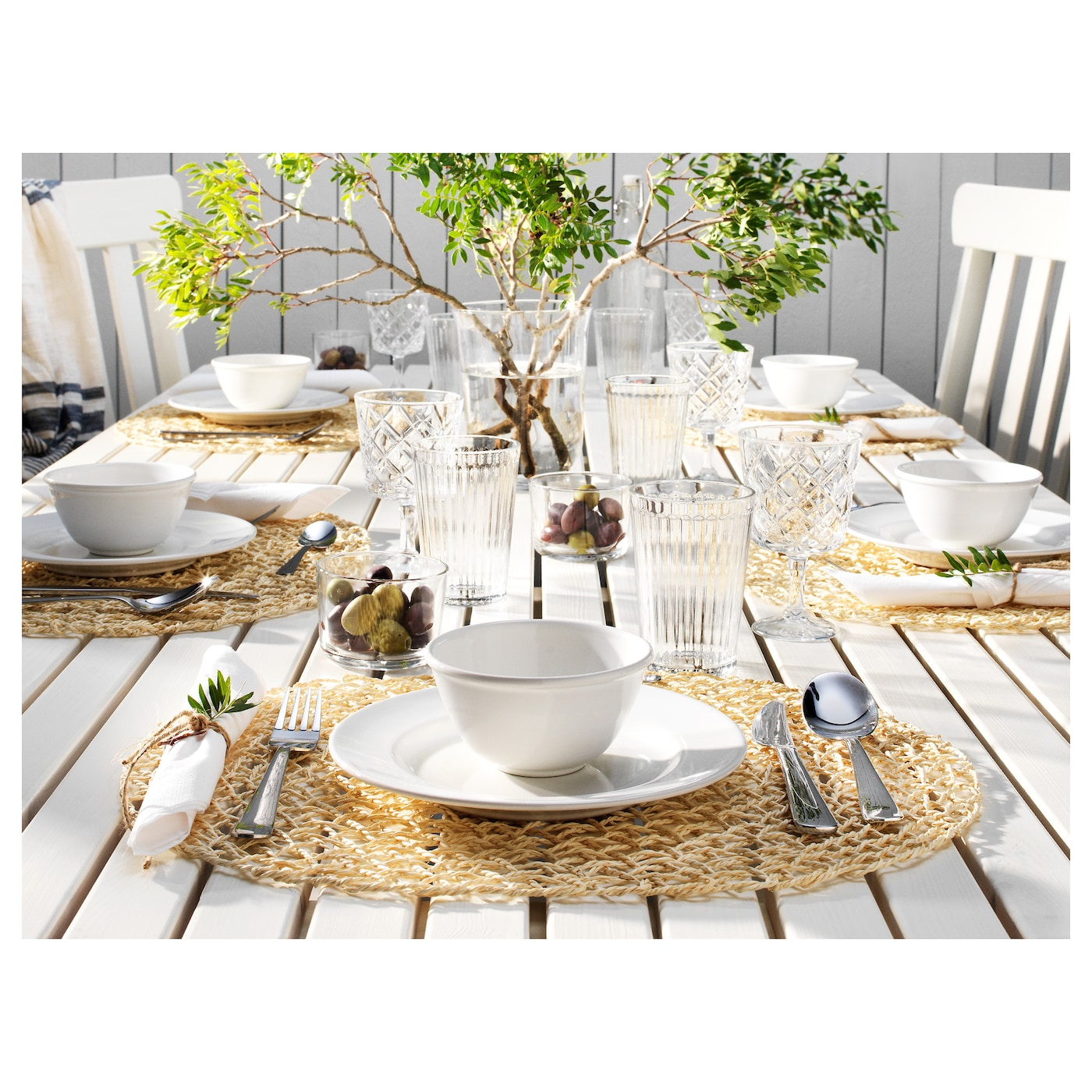 Samtliga set de table naturel feuille de palmier 35x45 cm for Set de table ikea