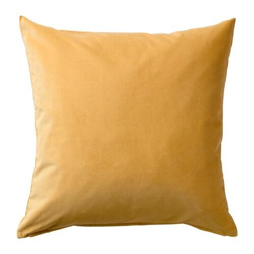 SANELA Housse de coussin Brun doré 50 x 50 cm   IKEA