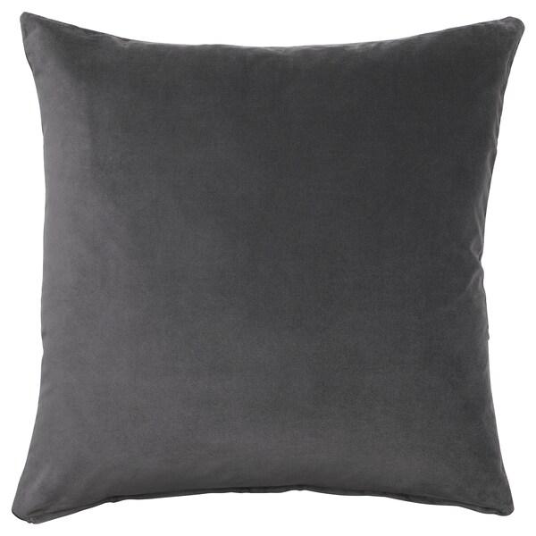 SANELA Housse de coussin, gris foncé, 50x50 cm